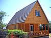 Дачный домик 8м х 6м из блокхауса с мансардой и террассой
