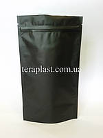 Дой-Пак 250г черный 140х240 с зип замком