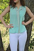 Блуза аквамаринового цвета