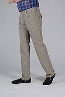 Светлые летние льняные мужские брюки