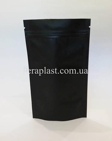 Дой-Пак 50г черный 100х170 с зип замком, фото 2