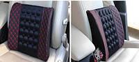 Ортопедическая автомобильная подушка (под спину) для водителей, массажная, кожаная