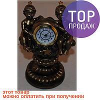 "Часы, статуэтка знак зодиака ""Близнецы"" / Интерьерные настольные часы"