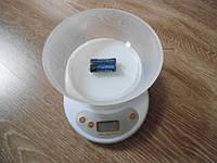 Весы кухонные со съемной чашей (5 кг) + батарейки
