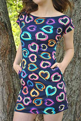 Платье в сердцах