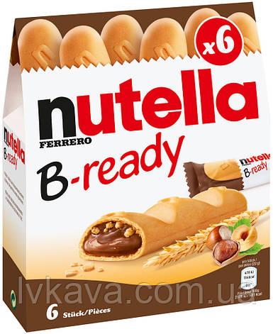 Хрустящие батончики с шоколадно-ореховым кремом Nutella B-ready Ferrero , 132 гр, фото 2