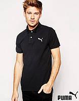 Мужская черная футболка поло пума