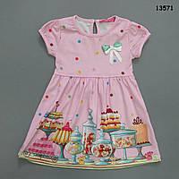 """Летнее платье """"Сладости"""" для девочки. 4, 5 лет"""
