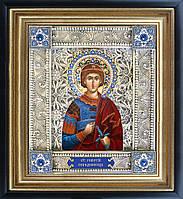 Святой Георгий скань икона
