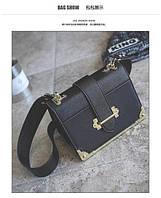 Женская сумочка 2017, клатч,черная,  новинка