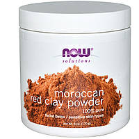 Now Foods, Марокканская Красная глина, детоксикация кожи лица, в порошке, (170 г)