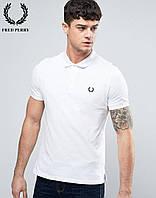 Модная поло футболка белая Fred Perry