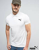 Мужская белая футболка поло puma
