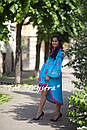 Стильное вечернее платье для беременных бохо вышиванка лен, этно, вишите плаття, выпускное платье, фото 4