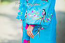 Стильное вечернее платье для беременных бохо вышиванка лен, этно, вишите плаття, выпускное платье, фото 5