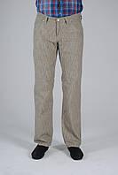 Бежевые брюки льняные мужские