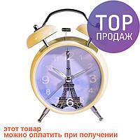 Кварцевые часы - Эйфелева башня, кусочек сказочного Парижа в Вашей спальне / Интерьерные часы-будильники