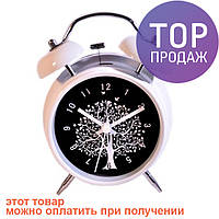 Часы с подсветкой - Дерево, белые / Интерьерные часы-будильники