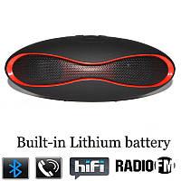 Портативная Bluetooth колонка SPS X6A+BT черная с красным