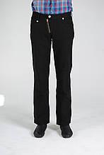 Черные мужские льняные брюки