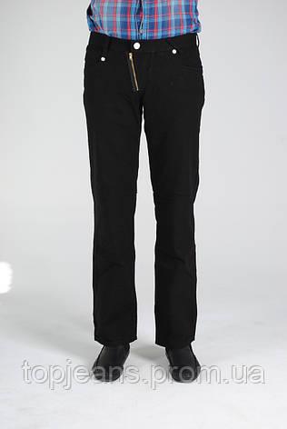 Черные мужские льняные брюки, фото 2