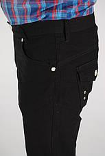 Черные мужские льняные брюки, фото 3