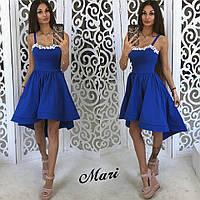 Коктейльное платье цвета электрик