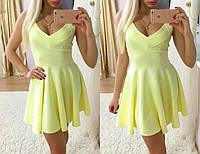 Модное летнее платье в желтом цвете