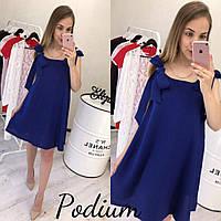 Платье с бантами цвета электрик