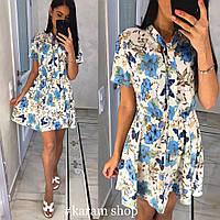 Воздушное нежное платье с цветочным принтом
