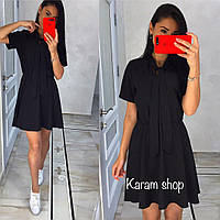 Легкое стильное черное платье