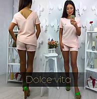 Костюм с шортами (розовый)