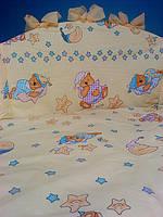 Охранка (бортики) в детскую кроватку №117