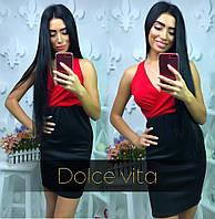 Офисное платье (верх красный)