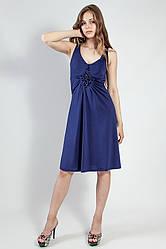 Платье женское вечернее с камнями Lussilo бирюзовое и фиолетовое