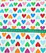Хлопковая ткань польская сердца розовые, голубые, оранжевые, зеленые на белом №637, фото 3