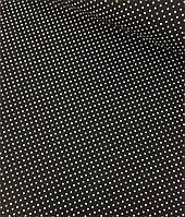 Хлопковая ткань польская белый горох на черном 4 мм