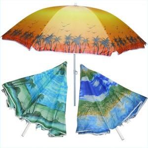 Пляжный зонт с наклоном 180см, солнцезащитный зонт с напылением