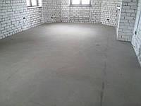 Бетонный пол в частном доме в Днепропетровске, фото 1