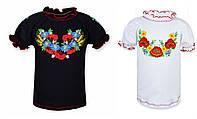Детская блуза вышиванка на девочку в расцветках, 98-134