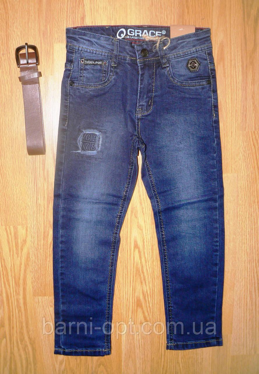 Брюки джинсовые на мальчика оптом, Grace, 134-164 рр