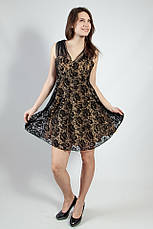 Плаття жіноче чорне гіпюрову вечірній коктельное велике Lussilo, фото 3
