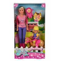 Кукольный набор Штеффи и Эви Уроки верховой езды
