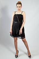 Платье женское черное вечернее коктельное выпускное шелковое  р L SILVIAN HEACN