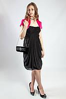 Платье женское черное  вечернее коктельное выпускное на бретелях рS  Lussilo