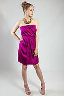 Платье женское коктельное вечернее ситреневое голубое выпускное на бретелях рS L Lussilo