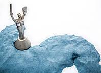 Кинетический песок Супергам Синий для творчества 500 гр + Формочки kinetic sand, живой песок