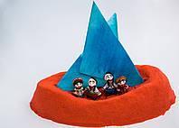 Живой песок Supergum Красный для творчества 500 гр + Формочки Украина kinetic sand