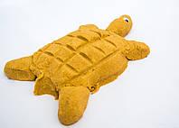Кинетический песок Supergum Бежевый  для творчества 1000 гр + Формочки Украина Умный песок