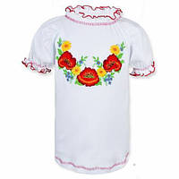 Детская блуза вышиванка на девочку в расцветках, 98-140